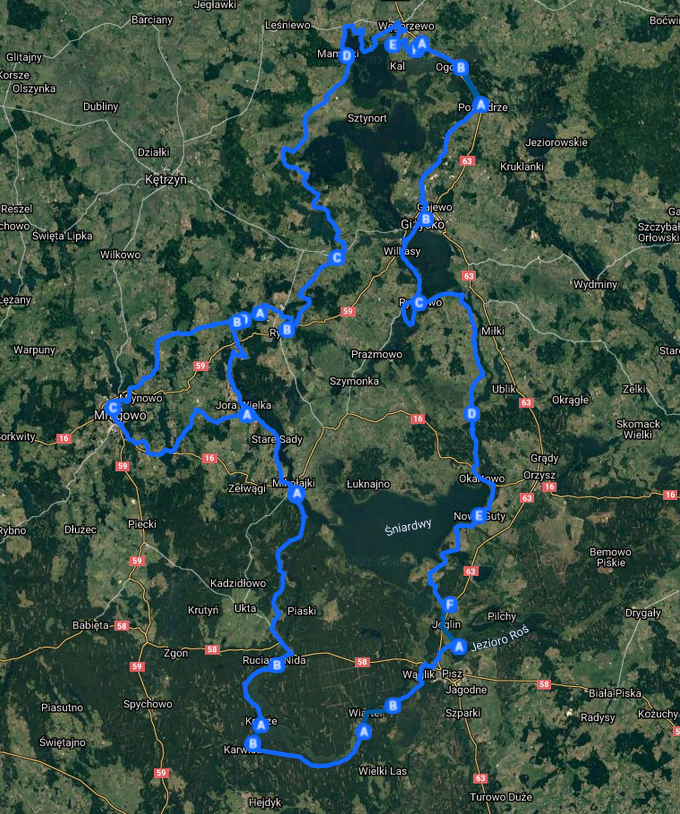 Sprawdź trasę Mazurskiej Pętli Rowerowej
