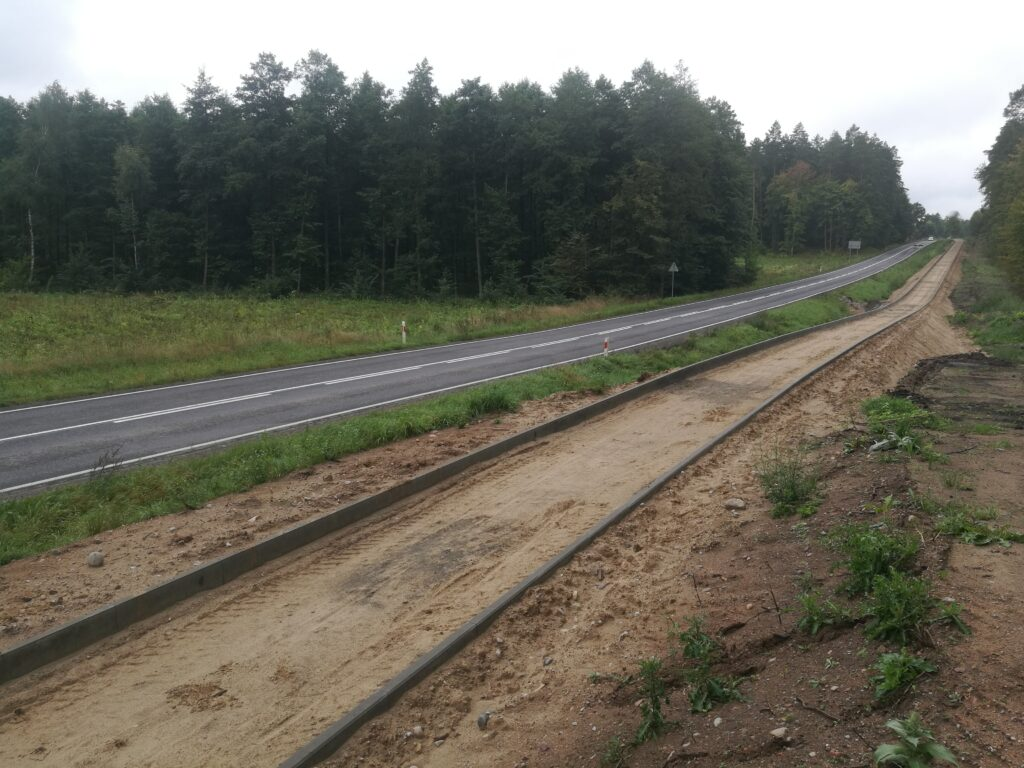 Budowa drogi rowerowej wzdłuż DK59 w okolicy Rynu