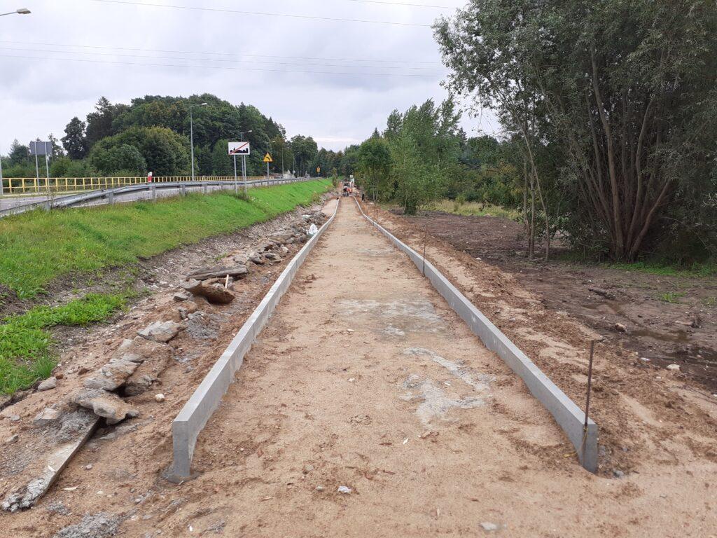 Budowa drogi rowerowej przy DK63 w Węgorzewie