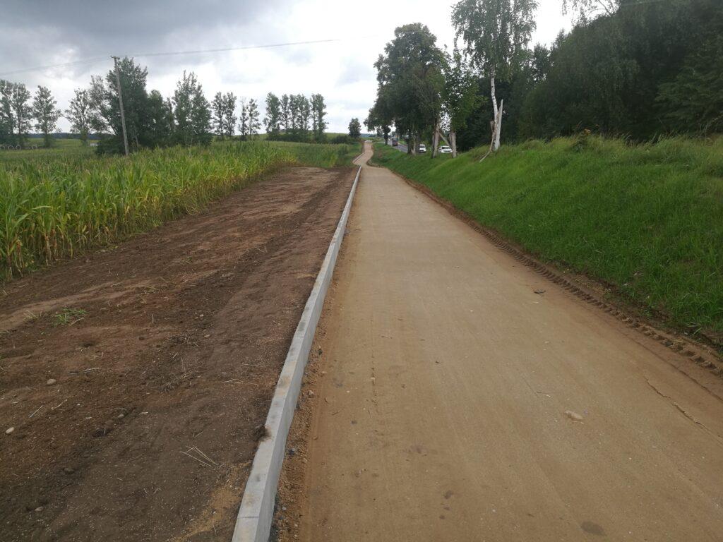 Budowa drogi rowerowej wzdłuż DK16 w Probarku